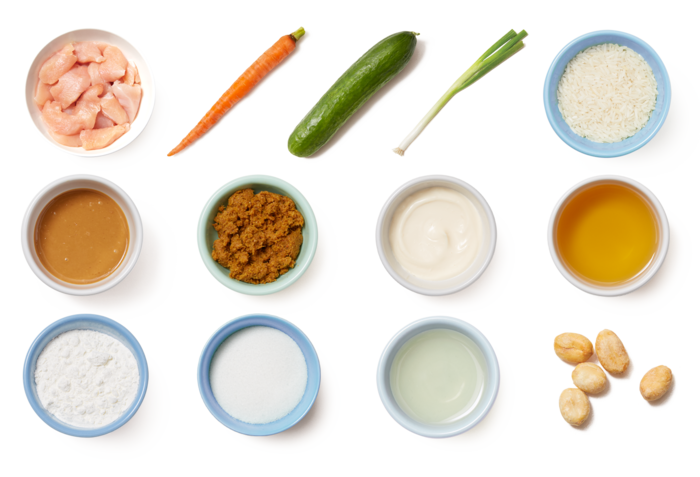 Curry-Peanut Chicken with Jasmine Rice & Marinated Vegetables