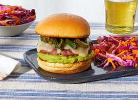 Monterey Jack Beyond Burger™ with Guacamole & Spicy Peppers