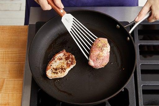 Cook the pork: