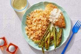 Spanish-Spiced Deviled Chicken with Romesco Rice & Preserved Lemon Sauce
