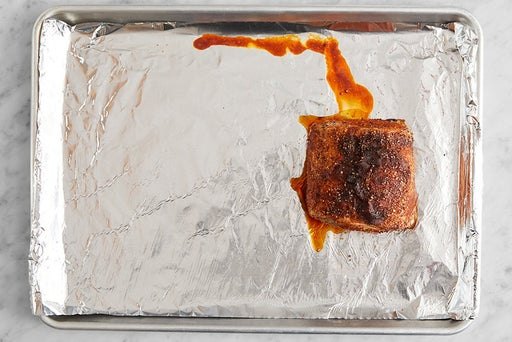 Prepare & start the pork: