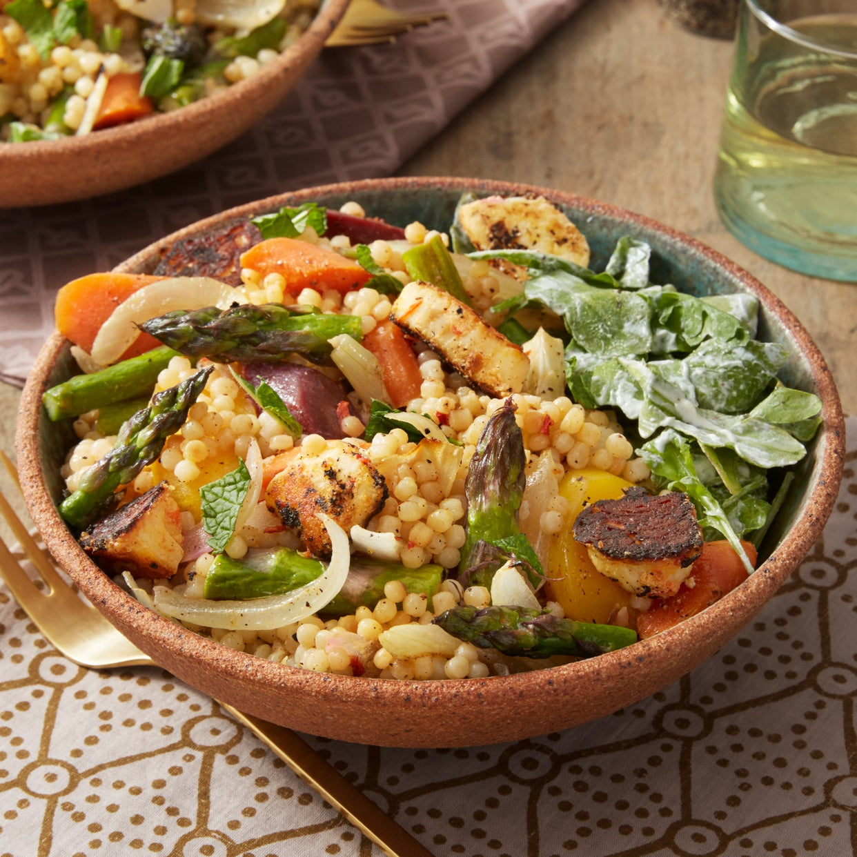 Recipe: Spring Vegetables & Toasted Pearl Couscous with ...