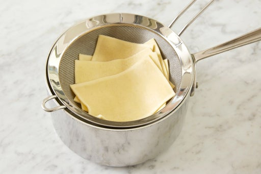 Cook the pasta sheets: