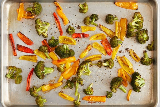 Roast & dress the vegetables: