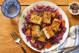 Savory Glazed Tofu with Quinoa & Vegetables
