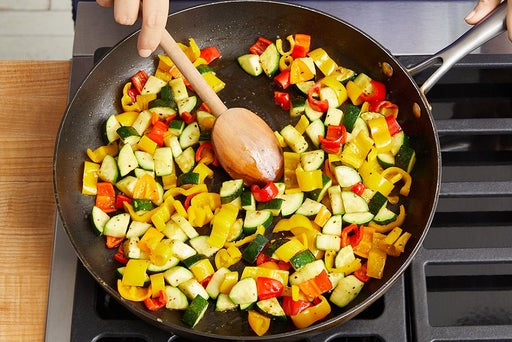 Cook the vegetables: