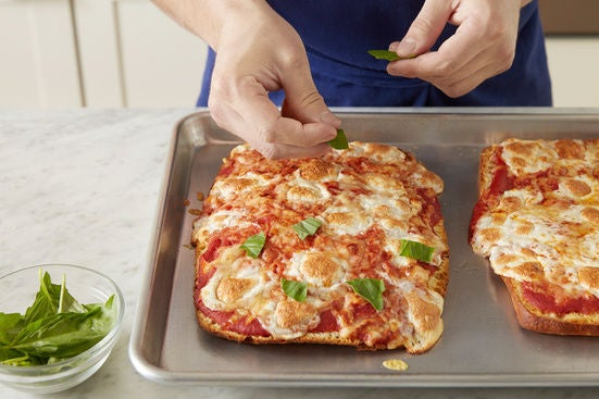 Bake the pizzas: