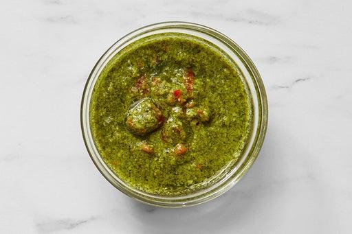 Make the Pickled Pepper Pesto:
