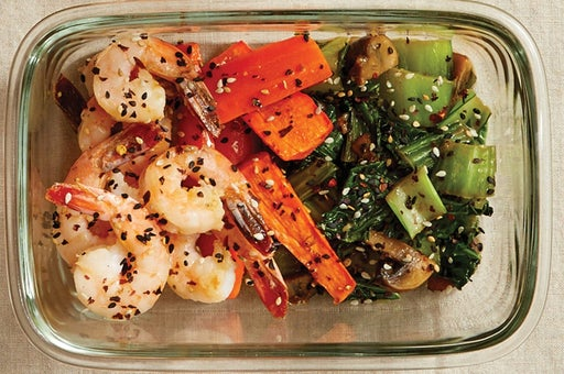Finish & Serve the Furikake Shrimp: