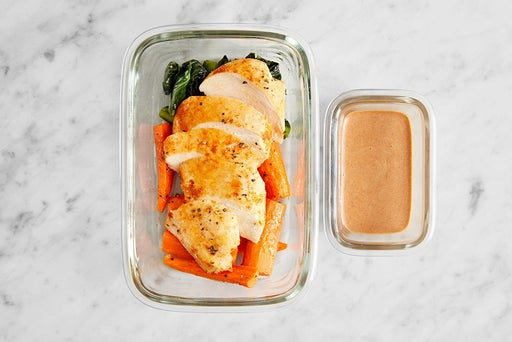 Assemble & Store Smoky-Spiced Chicken: