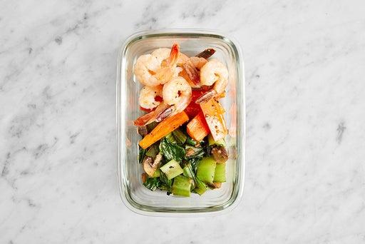 Assemble & Store Furikake Shrimp: