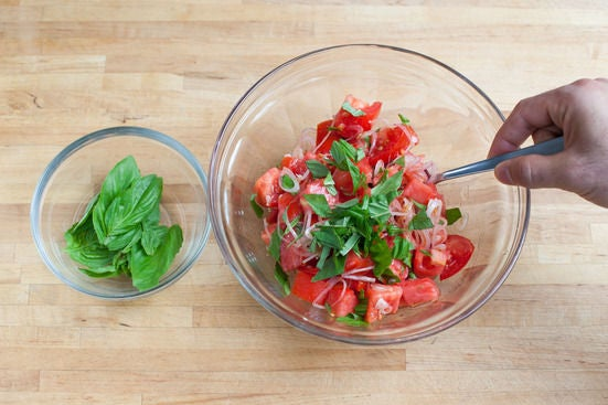 Make the panzanella: