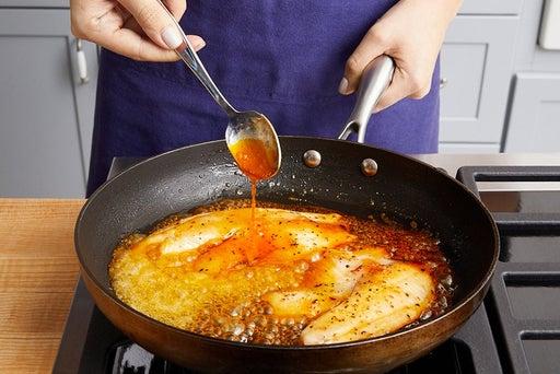 Cook & glaze the fish: