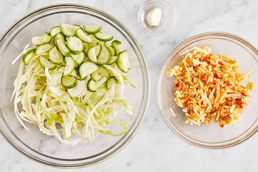 Prepare the ingredients & make the pimento cheese: