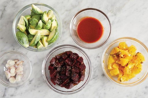 Prepare the ingredients & make the orange salsa: