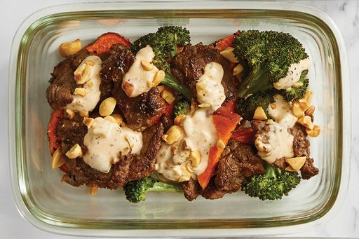 Finish & serve the Beef & Roasted Vegetables: