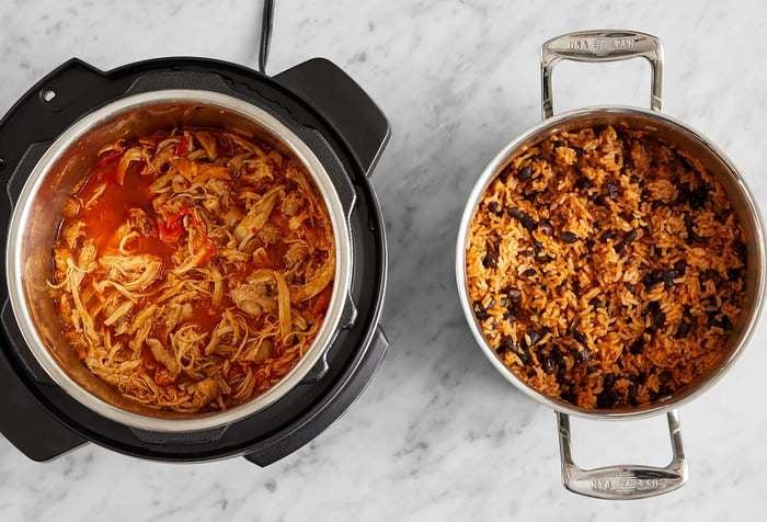 Multi-Cooker with Chicken Tacos & Cumin-Sichuan Pork