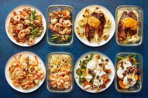 Pescatarian with Seared Shrimp & Roasted Tilapia