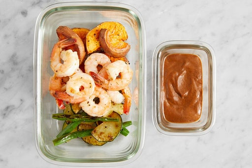 Assemble & Store the Creamy Black Bean Shrimp: