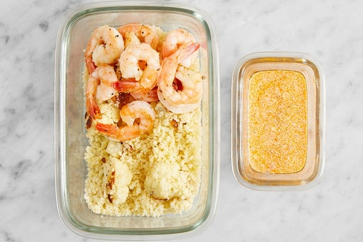 Assemble & Store the Shrimp & Couscous: