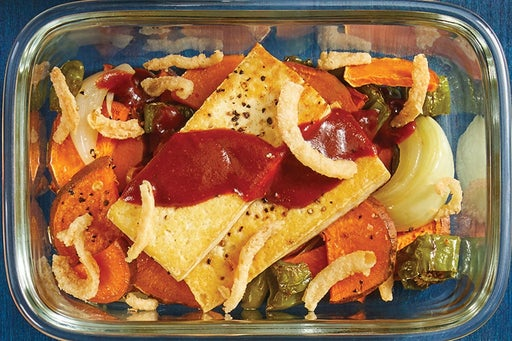 Finish & Serve the Tofu & Spicy BBQ Sauce: