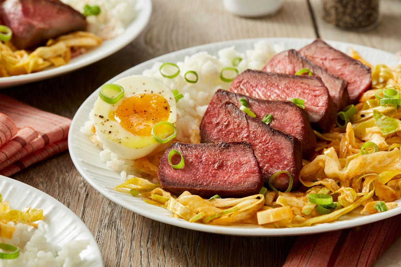 Blue apron kimchi - Seared Steaks Soft Boiled Eggs With Quick Kimchi Jasmine Rice