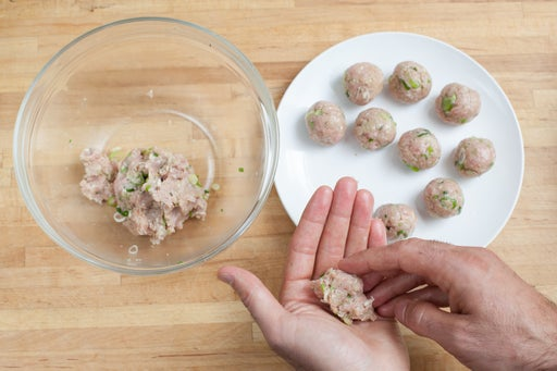 Form the meatballs: