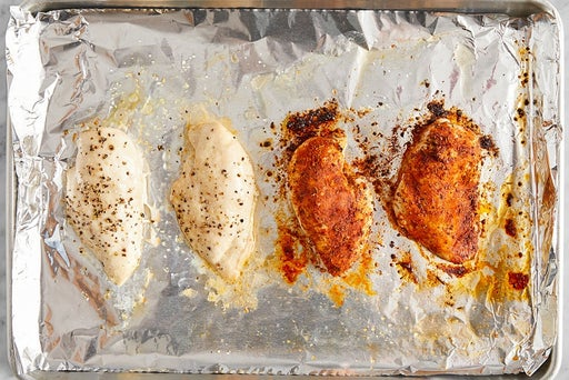 Cook & slice the chicken: