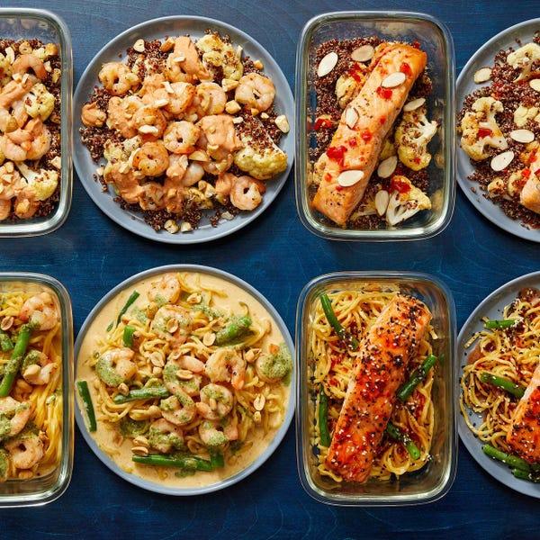 Pescatarian with Seared Shrimp & Roasted Salmon