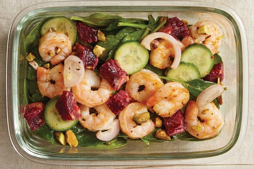 Finish & Serve the Shrimp & Orange Salad: