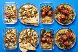 Multi-cooker with Indian-Style Chicken & Italian Meatballs
