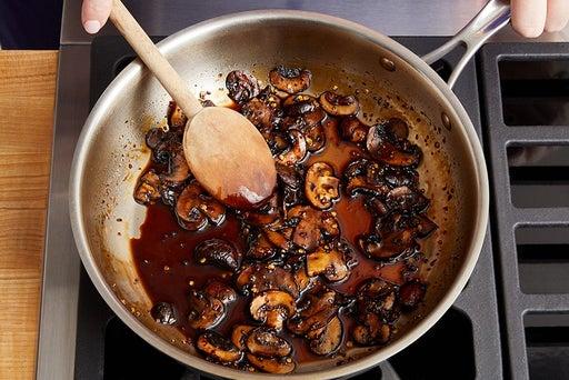 Make the mushroom agrodolce: