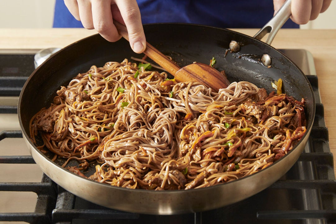 Finish the stir-fry & plate your dish: