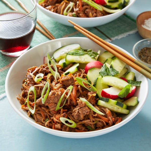 Bulgogi Beef & Soba Noodle Stir-Fry with Marinated Vegetables