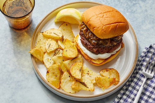 Fig & Goat Cheese Beyond Burger™ with Garlic & Rosemary-Roasted Potatoes