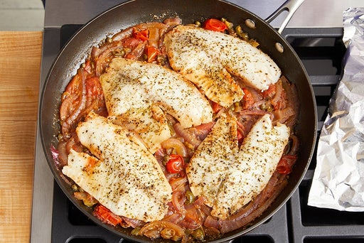 Cook the fish & finish the sauce: