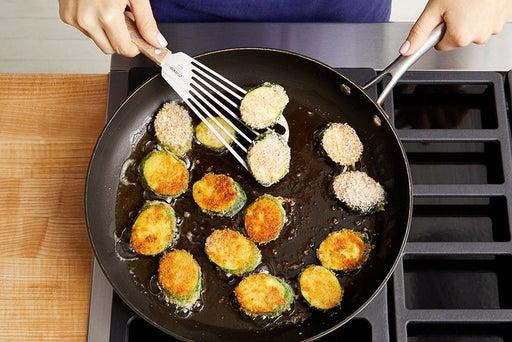 Fry the zucchini: