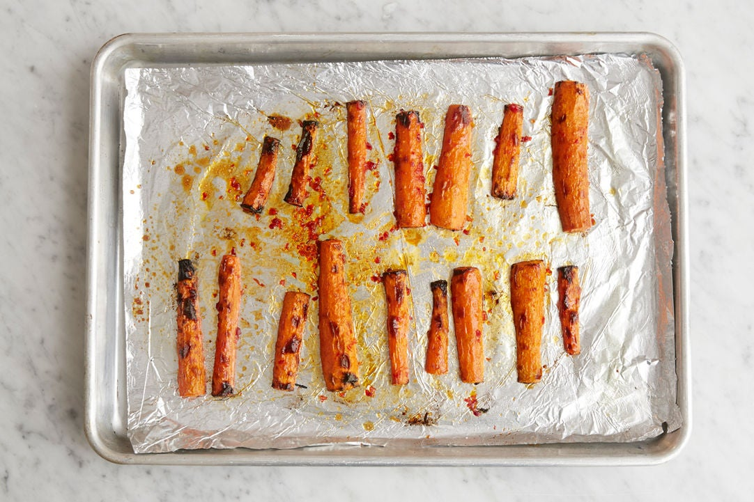 Roast & glaze the carrots:
