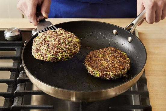 Cook the patties: