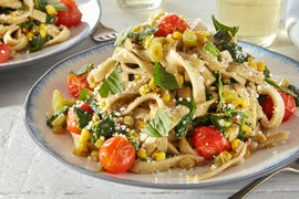 Fresh Basil Fettuccine with Sweet Corn & Cubanelle Pepper