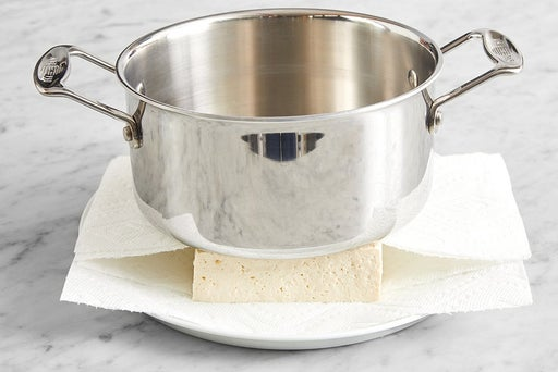 Prepare the tofu: