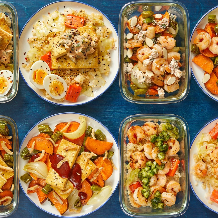 Pescatarian with Seared Shrimp & Tofu
