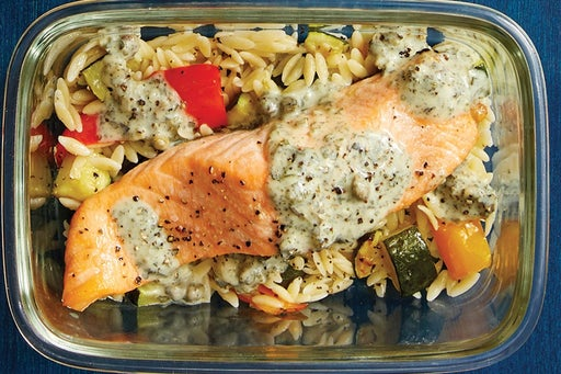 Finish & Serve the Italian-Style Salmon: