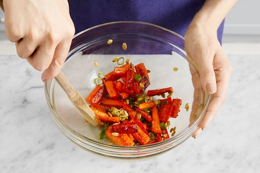 Roast & dress the carrots:
