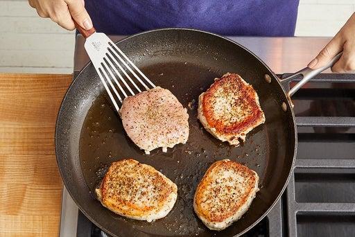Cook & slice the pork: