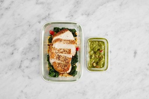 Assemble & Store the Pork Chops & Vegetable Pasta: