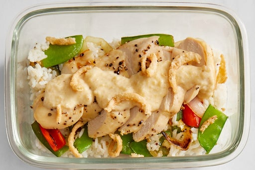 Finish & Serve the Indian-Style Chicken & Rice: