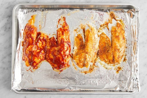 Roast the tilapia: