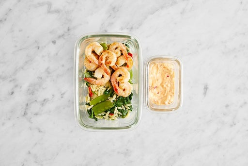 Assemble & Store the Italian-Style Shrimp & Orzo: