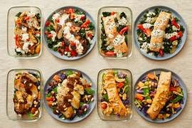 Carb Conscious with Seared Chicken & Roasted Salmon
